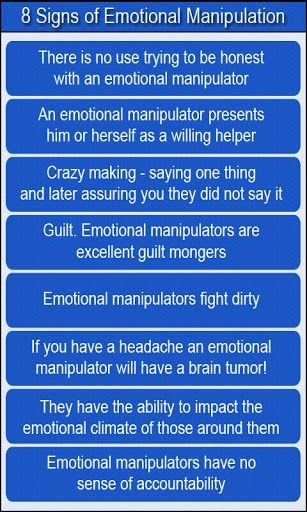 8 Signs of Emotional Manpulation