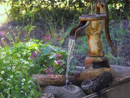 Rustic fountain idea