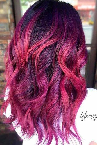 Magenta Color Ideas for Long Hair picture3