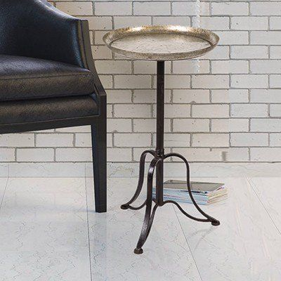 Our Round Metal Side Table Is A Metal Accent Table That Looks Stunning In  The Living