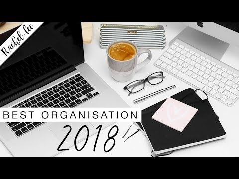 My Top Organization & Planner Essentials for 2018 - YouTube