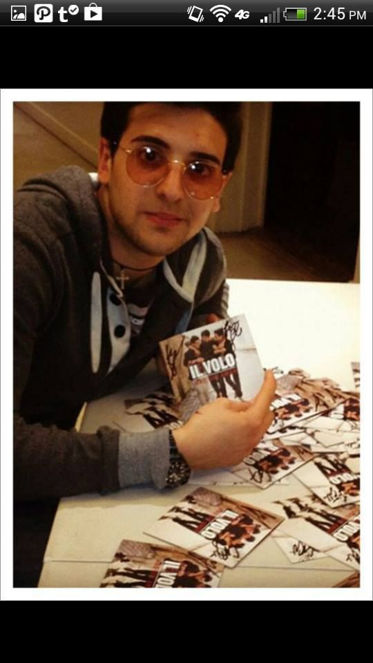 "Piero again signing booklets for CD ""WE ARE LOVE""....2013"