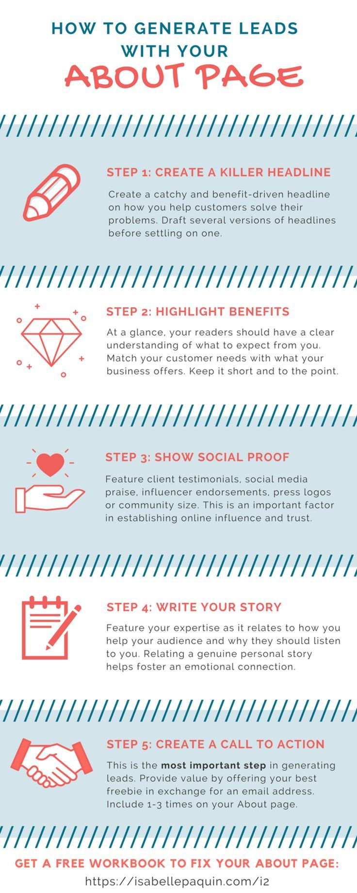 [INFOGRAPHIC] Struggling to write your own About page? Learn how to convert readers into subscribers with these 5 easy steps.