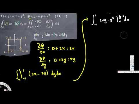 Green's Theorem One Region - Vector Calculus