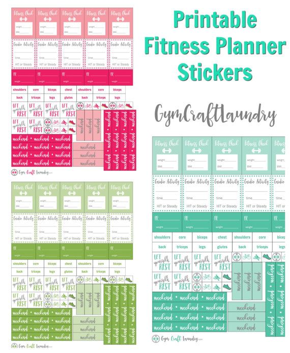 Printable Fitness Stickers fits The Happy by GymCraftLaundry