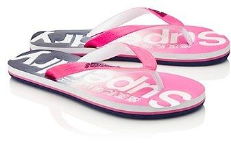 Womens cerise superdry flip flops from Lipsy - £15 at ClothingByColour.com