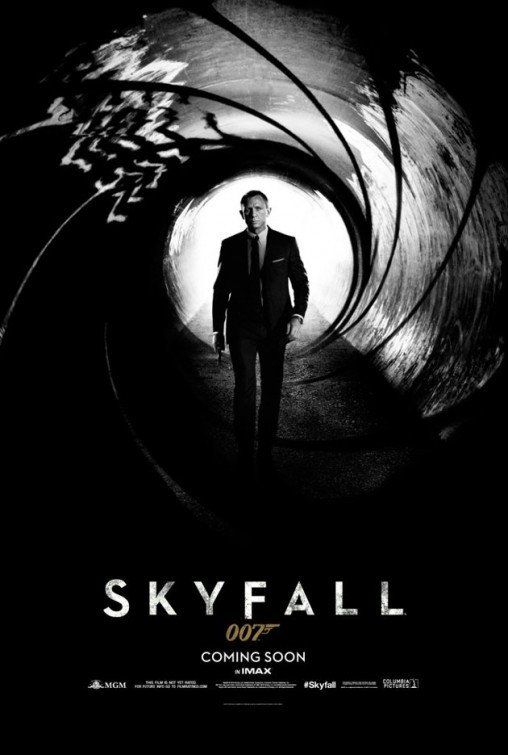 First teaser poster for the latest James Bond film - SKYFALL.
