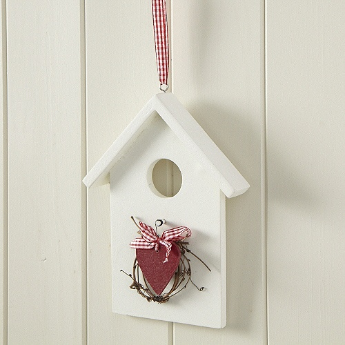 Birdhouse & Heart Wall Decoration