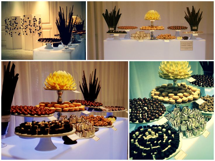 Sweet table and edible butterfly wall. This is one way to have your guests leave happy