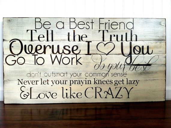 Love like Crazy- song lyrics painted on barn wood. Anniversary gift, wedding gift, on Etsy, $110.00