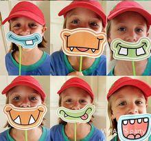 Новое поступление 6 шт. мода забавный рот фотография реквизит стенд фотографии реквизит детский день рождения детей ну вечеринку поставки(China (Mainland))