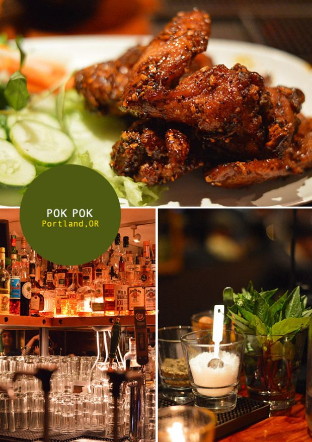 Pok Pok (portland, or). I ate here July, 2013 and their wings are to die for. I love their cocktails too.