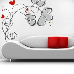 Vinilos Decorativos Flores Love  #decoracion #decoración #vinilosdecorativos #pegatinas #adhesivos #decorar