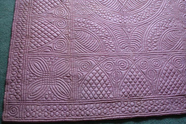 Hand quilting . . . antique welsh quilt