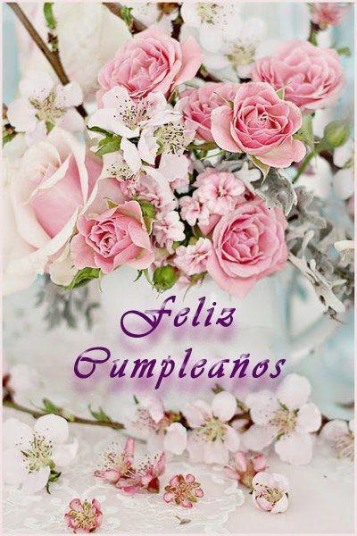 Resultado de imagen para tarjetas con flores de feliz cumpleaños