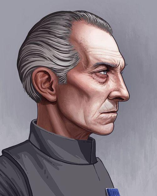 Star Wars - Grand Moff Tarkin by Mike Mitchell *