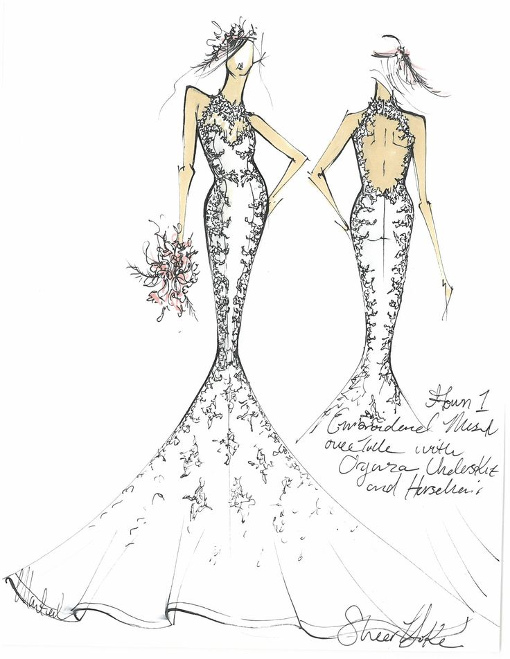 Mermaid Gown with Lace Applique