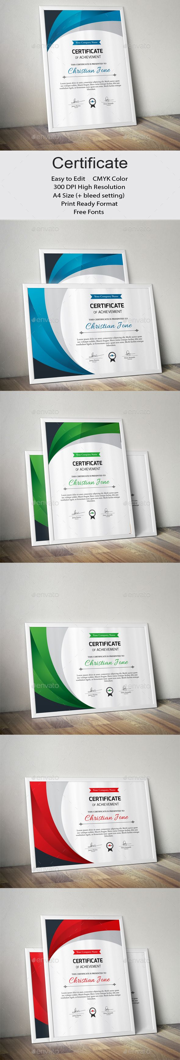 #Certificate - Certificates Stationery Download here: https://graphicriver.net/item/certificate/19415135?ref=alena994