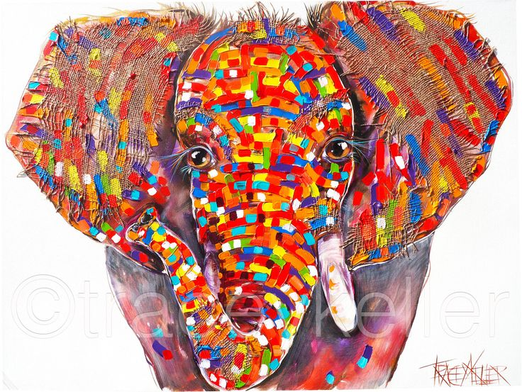Blaze – Elephant. Big Five Hand Finished Limited Edition tracey keller
