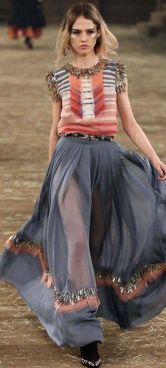 This ensemble is a fashion interpretation of euphoria. That's how it makes it feel.  Chanel Pre Fall 2014 #fashion
