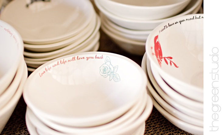 """Love life and life will love you back"" pottery at KAMERS Bloemfontein photographed at KAMERS Bloemfontein by @Ria Green via @The Pretty Blog"