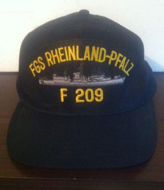 NWOT FGS Rheinland-Pfalz F209 Blue Snap back Hat Trucker Style Adjustable