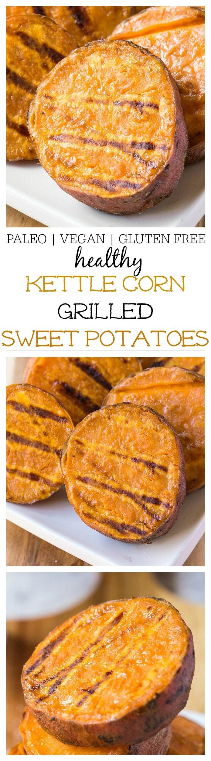 Kettle Corn Grilled Sweet Potatoes- A delicious, quick and easy side dish recipe or appetiser which is naturally gluten free, vegan and paleo and SO delicious hot OR cold! -thebigmansworld.com