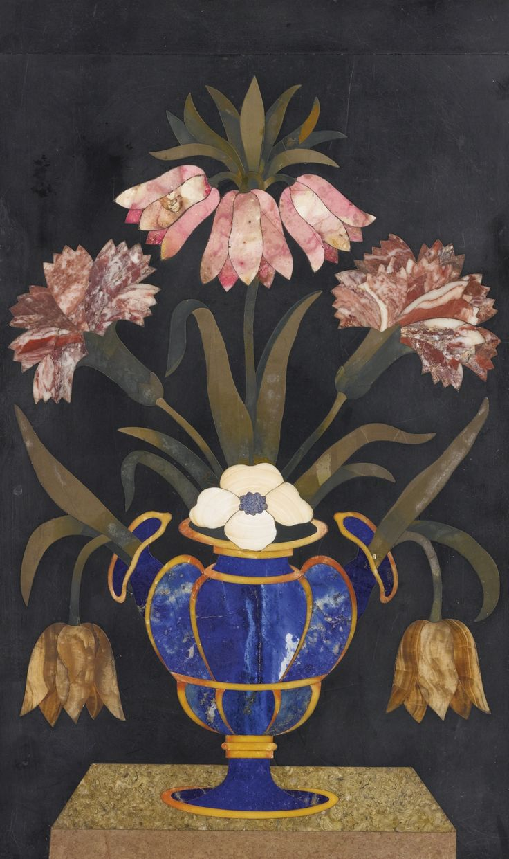 Italian Baroque pietra dura panel, attributed to the Opificio delle Pietre Dure, Florence, 17th c.
