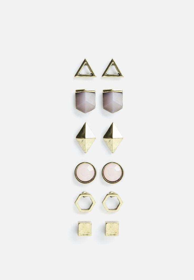 70 6PK SEMI P ER - LILAC New Look Earrings   Superbalist.com