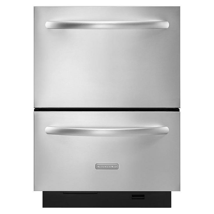 """KitchenAid 24"""" Double-Drawer Dishwasher - Stainless Steel : Sears Outlet"""