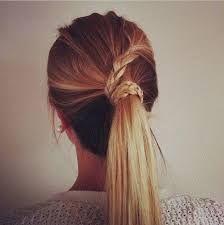 Resultado de imagen para peinados coleta alta con trenza