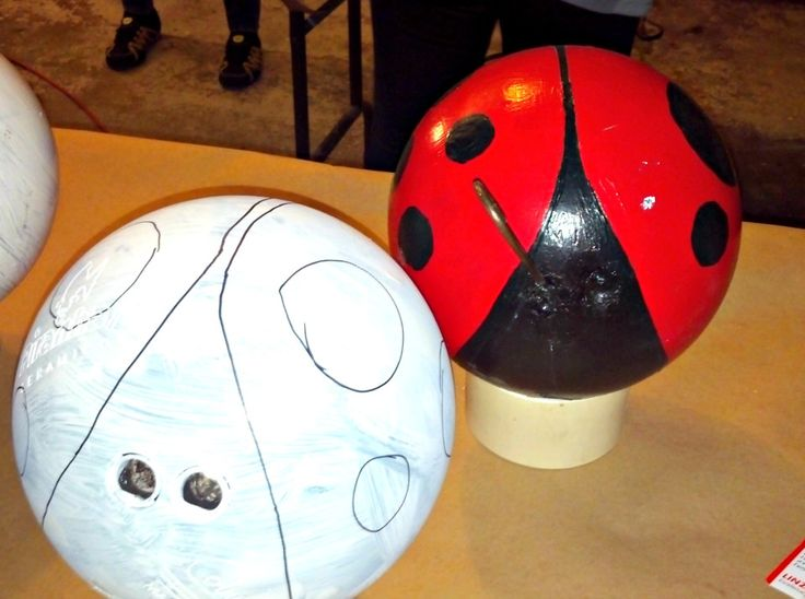 Create a Bowling Ball Ladybug