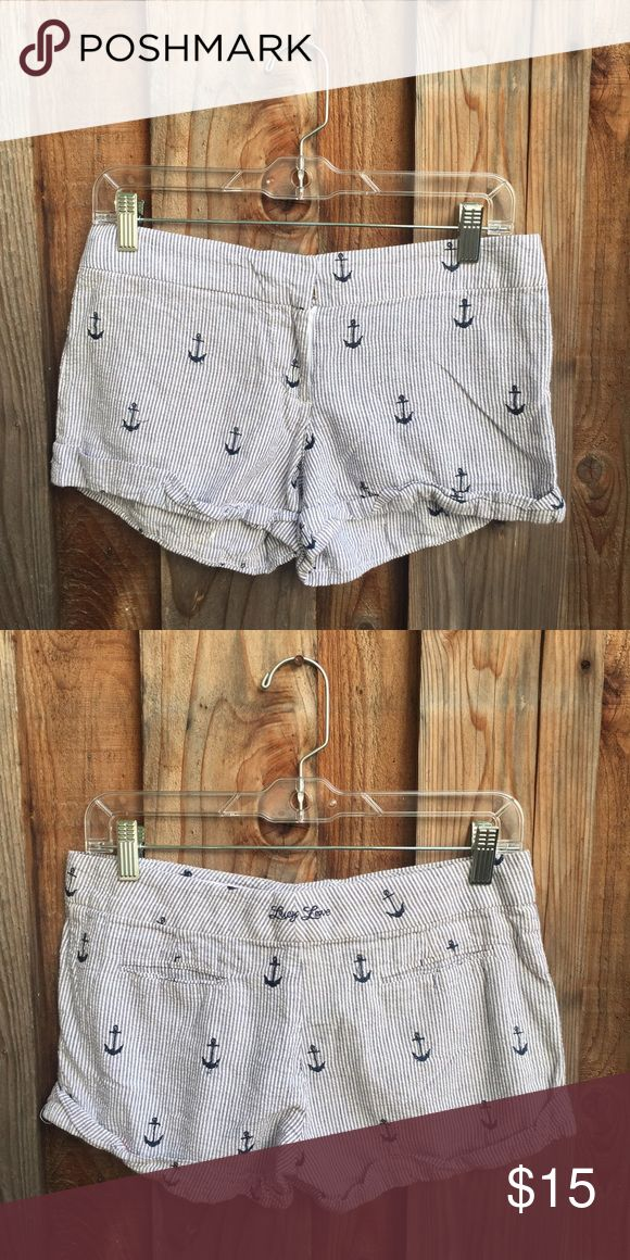 Lucy Love Anchor Shorts Light weight woven shorts features and all over anchor embroidery. Lucy Love Shorts