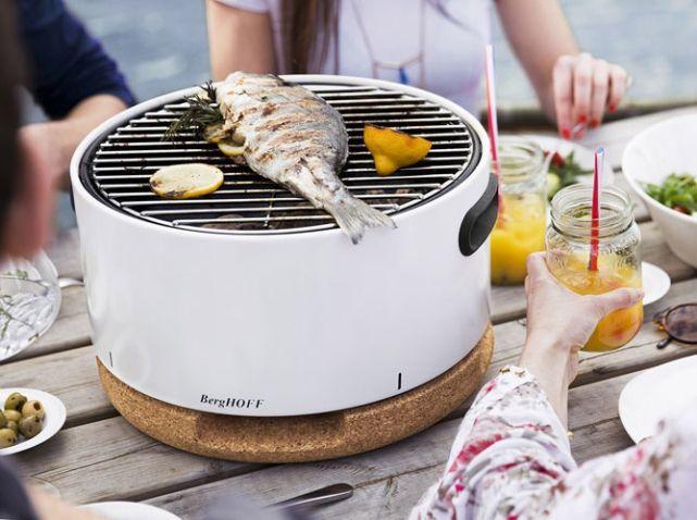 Barbecue blanc portatif