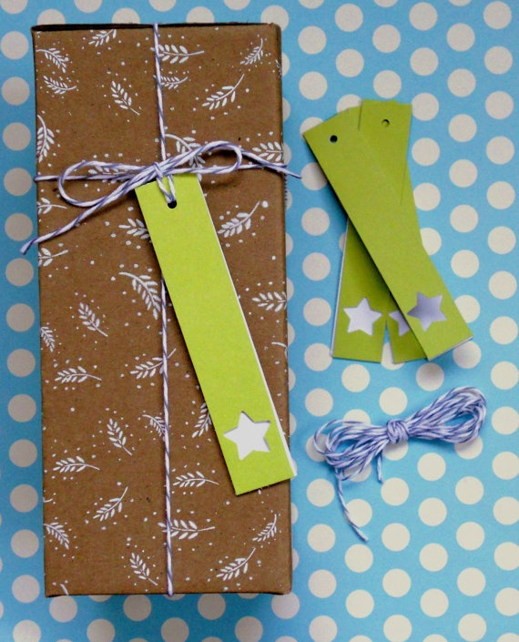 birthday gift tags lime star tag 5pak birthday by magdalenarose,