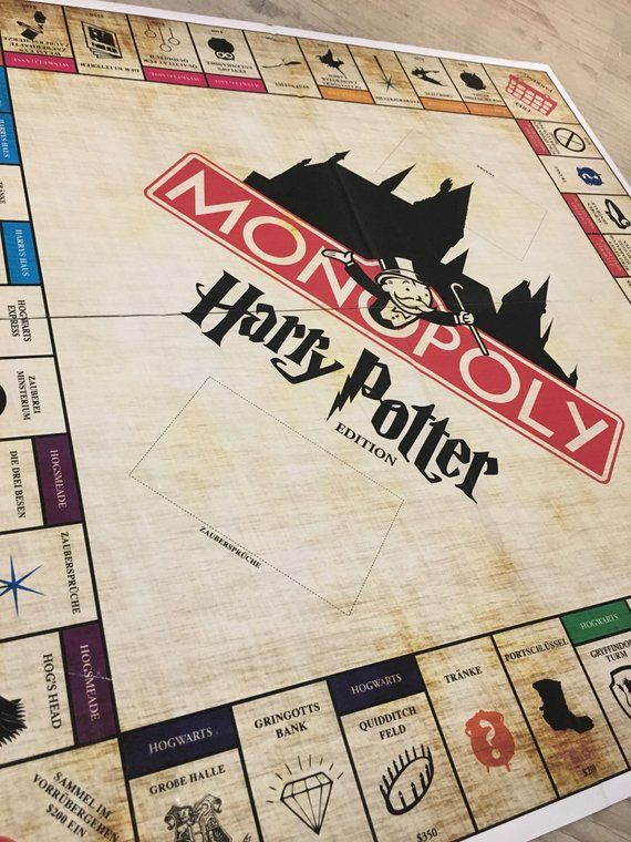 Customizable Monopoly-Harry Potter monopoly – Harry Potter