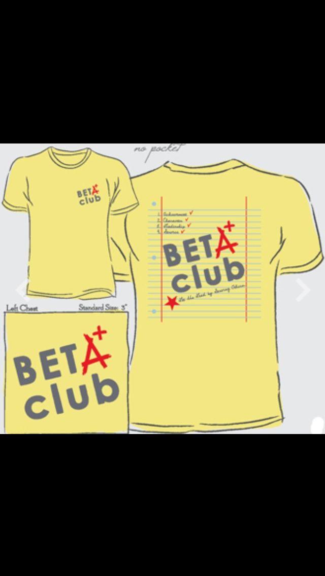 Beta club shirts