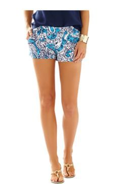 "3"" Walsh Short - Lilly Pulitzer Ariel Blue Hippy Hippy Shake"