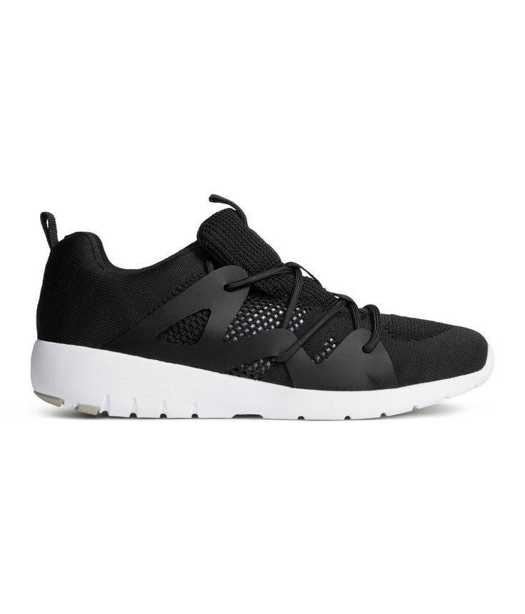 Mesh sneakers with perforated-knit sections and rubber details. | H&M Shoes