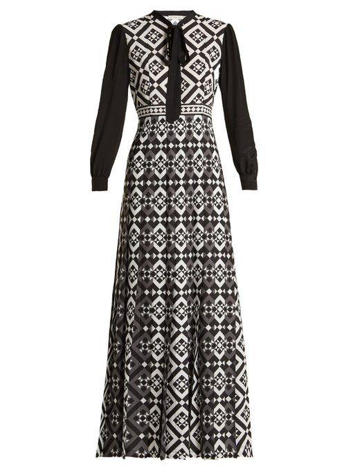 ed599f20b0 Mary Katrantzou Duritz tile-print crepe de Chine dress | Dresses ...