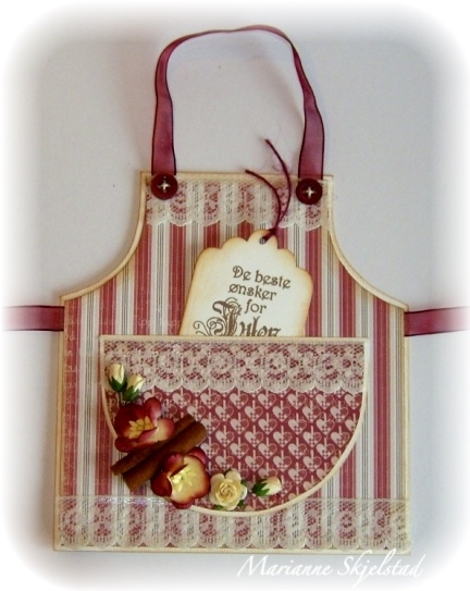 Pretty Apron Card ~ What does that say in the pocket ? :)