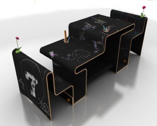 The Dog Ate My Homework: 10 Children's Desk Ideas: Kids Furniture, Kidsdesk Furniture, Modern Kids, Desks Kidsroom, Desks Ideas, Kidsroom Childrensdesk, Chairs Kids, Chalkboards Desks, Kids Rooms