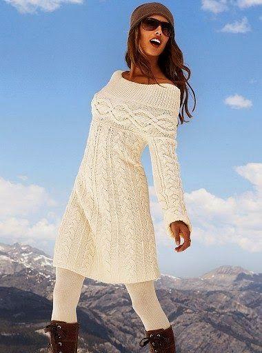 Dziana Moda: Warkoczowa sukienka na drutach