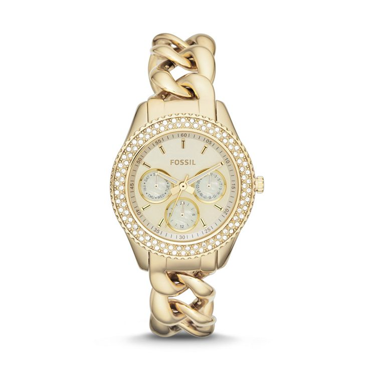 Fossil Stella Multifunction Stainless Steel Watch – Gold-Tone ES3499   FOSSIL®