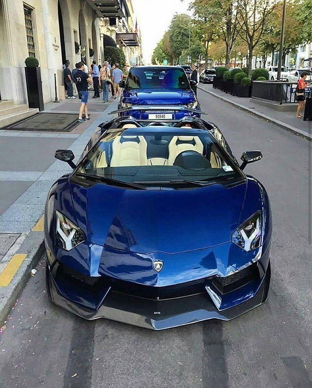 Blue Aventador DMC