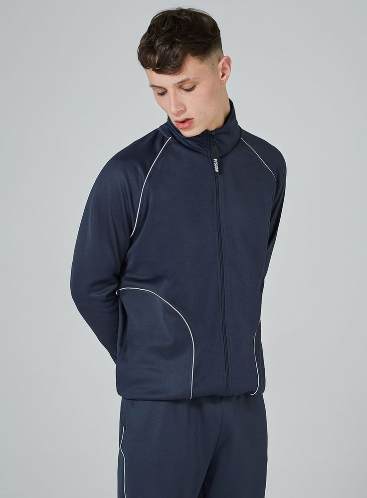 VISION STREET WEAR Navy Track Top And Bottoms Set - TOPMAN USA