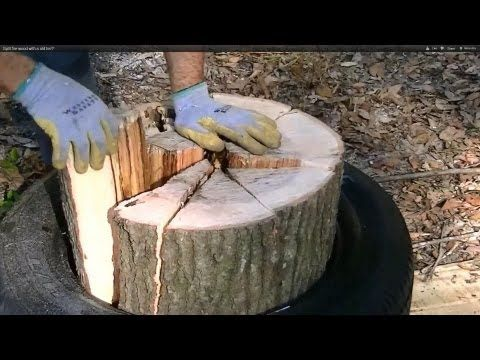 How To Use A TIRE To Split Wood Fast, And Easy. Save Loads Of Time And Your Back. This is Amazing! - The Good Survivalist