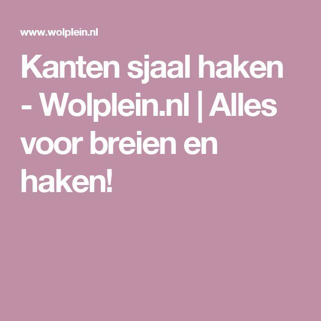 Kanten sjaal haken - Wolplein.nl | Alles voor breien en haken!
