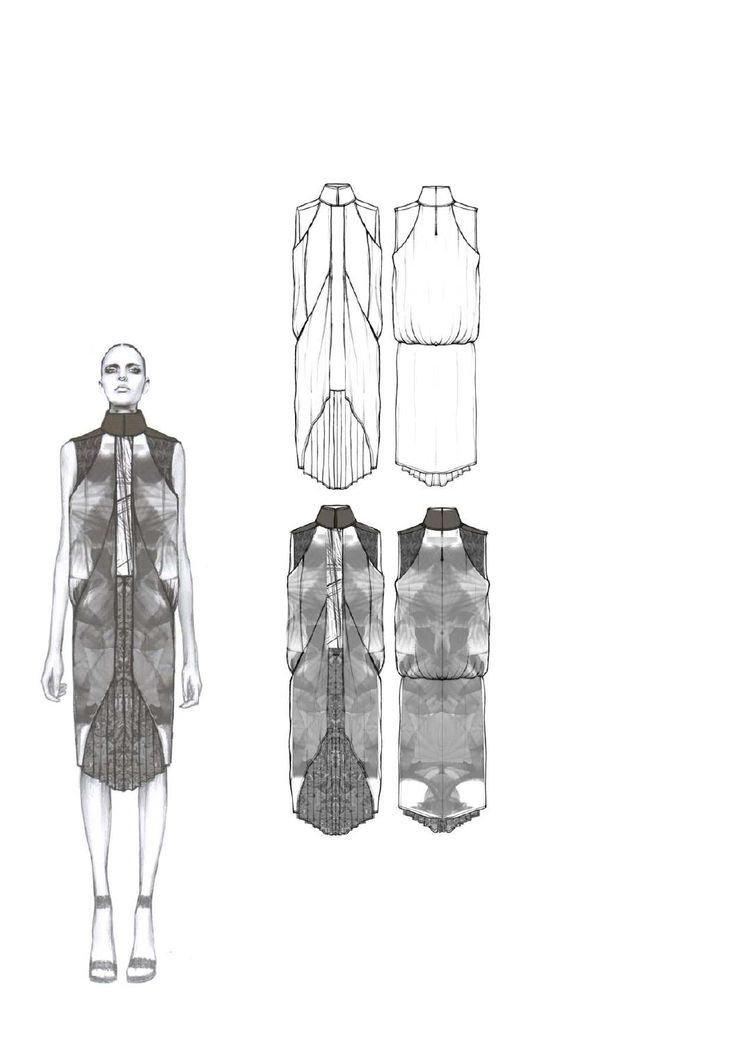 Fashion Sketchbook - final collection development, fashion illustration & fashion design flats // Amy Dee