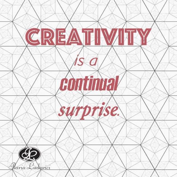 """""""La creatività è vedere qualcosa che ancora non esiste."""""""